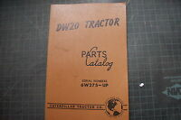 CAT Caterpillar DW20 SCRAPER Parts Manual Book 6W SPARE CATALOG SHOP TRACTOR
