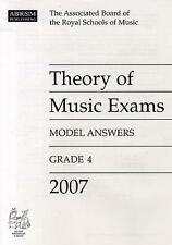 Grade 4 ABRSM Theory of Music Exams Model Answers 2007 AB96885