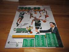 HOFer RICK PITINO - PAUL PIERCE - ANTONIE WALKER signed 1998-99 CALENDAR Poster