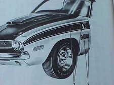 1970 T/A Challenger NOS MoPar TAPE STRIPE KIT Complete SET 10 Pieces