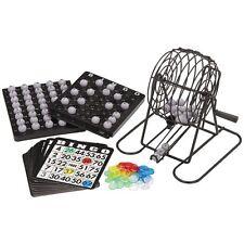 New Complete Bingo Game Set Cage Cards Balls