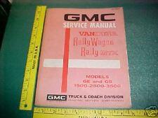 1972 Gmc Rally Stx Wagon Vandura Factory Service Manual