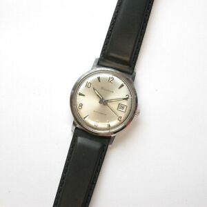 $295 SWISS 1969 (M9) Gents 32mm BULOVA SS Automatic Watch - G249350 & NEW BAND