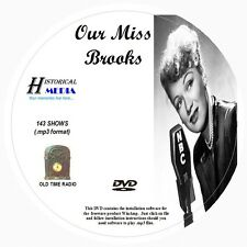 OUR MISS BROOKS - 143 Shows Old Time Radio In MP3 Format OTR On 1 DVD