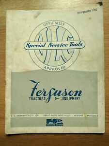 FERGUSON TRACTORS SPECIAL SERVICE TOOLS BY V L CHURCHHILL PRE USED IN GOOD COND