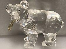 Swarovski Figur Grizzlybär mit Fisch 5,5 cm. Top Zustand.