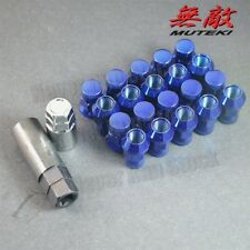 12x1.5 BLUE MUTEKI SR35 CLOSED END ACORN 20PC TUNER WHEEL LUG NUTS HONDA MAZDA