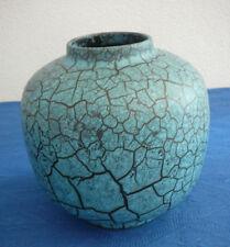 Vase Majolika Karlsruhe blau schwarz 19 cm