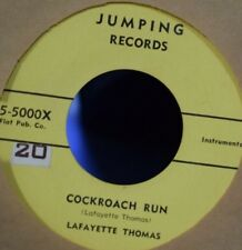 LAFAYETTE THOMAS 45RPM '55 JUMPING COCKROACH RUN RARE BLUES INSTRUMENTAL M-