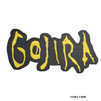 GOJIRA Heavy Metal Embroidered Iron On Patch Sew On Badge Patch For Clothes etc