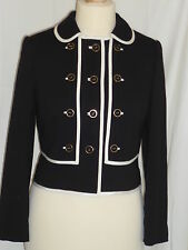 SOMERSET by ALICE TEMPERLEY Black & White Jacket MILITARY Style SIZE 12 RRP £160