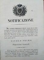 1847 FIRENZE: PRIMO STATUTO DELLA GUARDIA CIVICA TOSCANA