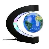 4 Inch Floating Globe Magnetic Levitation World Map Gift Auto Rotating Office UK