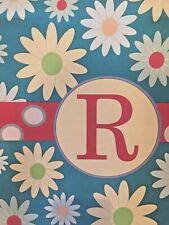 """New listing Monogram """" R """" Whimsical Garden Flag(12.�x 18"""")"""