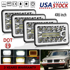 "DOT Approved 4x6"" LED Headlights Hi/Lo DRL Beam for Chevy C10 C20 C30 Camaro EI"