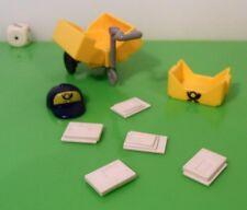 Playmobil Zubehör Puppenhaus Post Handwagen Kiste Briefe Kappe f. Briefträger