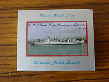 Vintage Match Box Label: British Naval Ships: No.61 HMS Rome Head