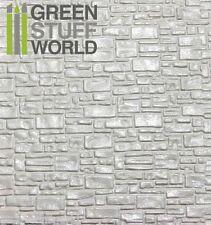 Plancha Plasticard Texturizado LADRILLO LISO - A4 -- Plastico Poliestireno