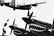 New 5x7 World War II Photo: Liberator Takes off on Bombing Mission