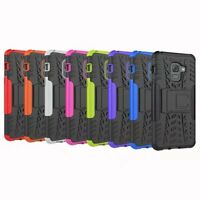Rugged Hybrid Armor Shockproof Hard Case Stand Cover For Samsung Galaxy A8 2018