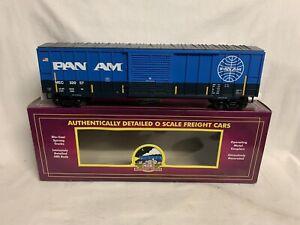 ✅MTH PREMIER PAN AM MAINE CENTRAL 50' BOX CAR 20-93503! O SCALE TRAIN