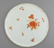 Tortenplatte Platte ø32,0 cm Form Rokoko 2054 Bukett in rot + gold Nymphenburg