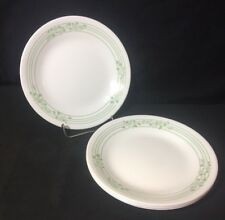 """4 Corelle English Ivy Bread & Butter Plates 6 3/4"""" Green"""