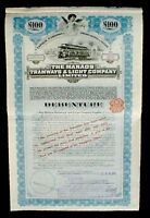 The Manaos Tramways & Light Company Lim. 100 Pound Sterling 1909  + Kupons