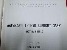 ALBANIA RARE EDITION BOOK MESHARI I GJON BUZUKUT 1555 FROM EQEREM CABEJ 1968 R5