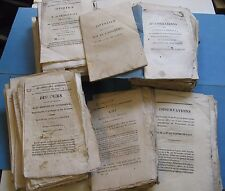 LOT + 50 BROCHURES RESTAURATION OPINIONS DEPUTES LIBERTE 1818 MILITAIRES DOUANE