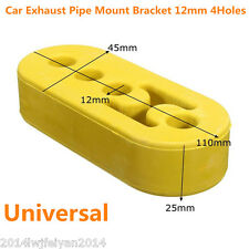 Universal Car Exhaust Tail Pipe Mount Hanger Bracket Insulator 12mm Hole Yellow