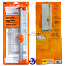 Fiskars Scrapbooking ROTARY PAPER TRIMMER Deluxe Portable Design w/Swing-out Arm