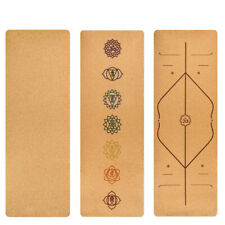 Natural Cork Eco-Friendly Non-Slip Pilates Yoga Fitness Exercise Mat