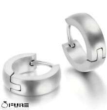 Unisex Surgical Stainless Steel Huggie Silver Rose Gold Punk Small Hoop Earrings