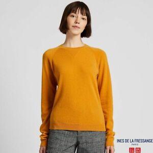 NEW Women Cashmere Crew Neck Sweater by INES DE LA FRESSANGE UNIQLO  Size M