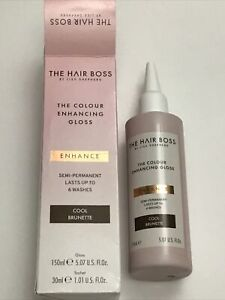 The Hair Boss Colour Enhancing Gloss Cool Brunette 150ml BNWB