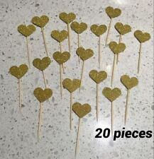 Gold Cupcake Pick Cake Toppers