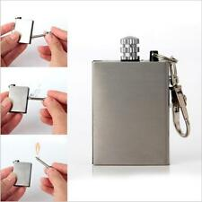 3pcs Hot Sell Stainless Steel Permanent Fire Metal Match Lighter With Key Ring