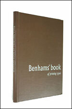 Benhams' Book of Printing Types by Benham and Company
