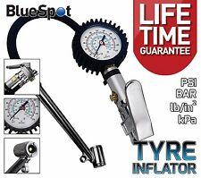 Professional Tyre Inflator With Gauge Air Line Tyre Pump Pressure Tester PSI BAR