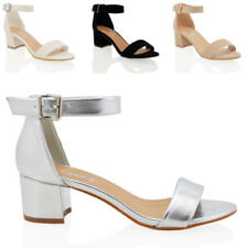 Essex Glam Block Ankle Straps Shoes for Women