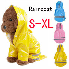 Pet Dog Waterproof Hooded Raincoat Cat Rain Coat Jacket Puppy Clothes Costume