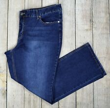 Woman Within Plus Boot Leg Jeans Pants Bootcut Mid Rise Dark Wash Blue Size 24W