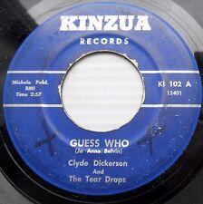 Clyde Dickerson & Tear Drops doowop b/w popJAZZ Guess Who b/w Cool Week-End JR60