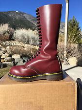 90s VINTAGE Dr. Martens Steel Toe US 7 boots oxblood red 20eye 1942 doc 1940 uk5