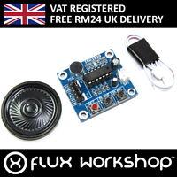 Vocal Recording Module 0.5W Speaker ISD1820 SPI 20s Arduino 1700 Flux Workshop