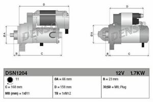 DENSO STARTER MOTOR FOR ANNO AUDI A8 BERLINA 2.5 150KW