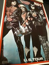 Kiss 1976 US Tour Poster Very Rare Aucoin Gene Simmons Paul Stanley Peter Criss