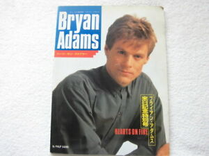 Bryan Adams / HEARTS ON FIRE / With Poster, JAPAN PHOTO BOOK 1988