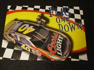 STERLING MARLIN 1998 NASCAR Official Coors Brewing Company Poster New old Stock